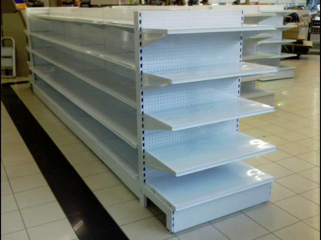 """C"" Series Perforated Backing Island Gondola Shelving System"