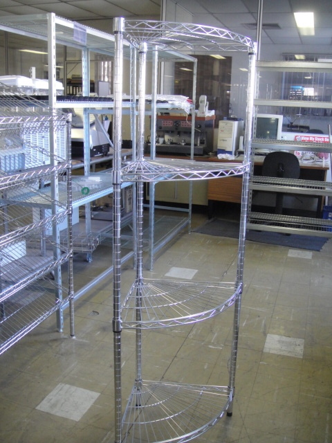 Wire Rack – Chrome Corner Display Unit
