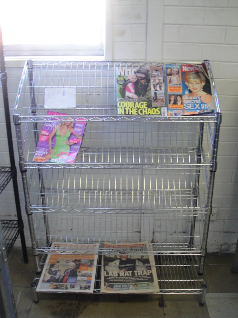 Wire Rack – Chrome Magazine Display
