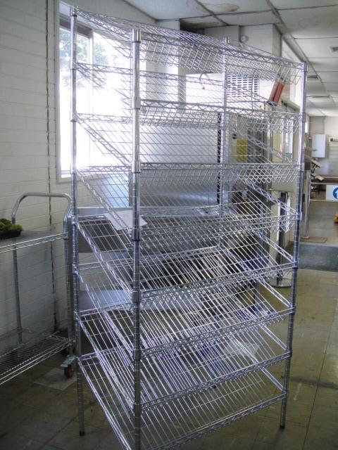 Chrome Wire Bread Rack 2000mm H