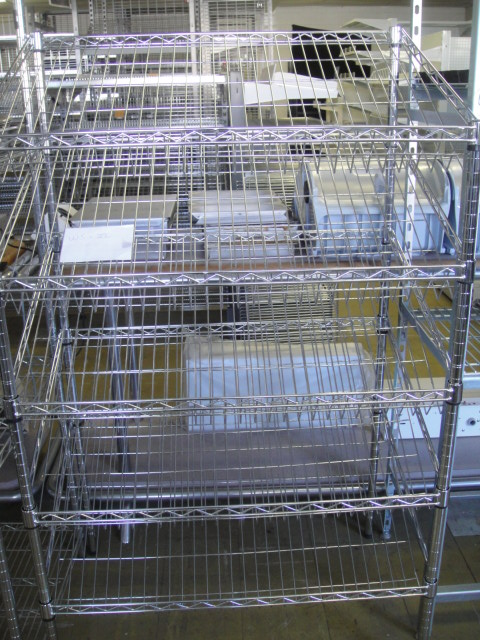 Chrome Wire Bread Rack 1500mm H