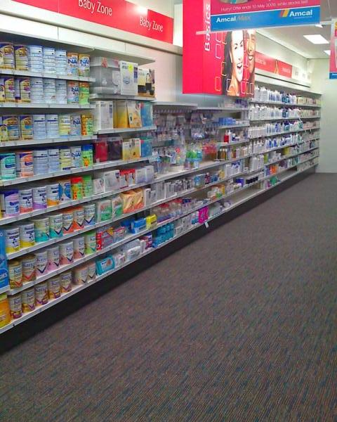 2195mm High Pharmacy Wall Bay Shelving