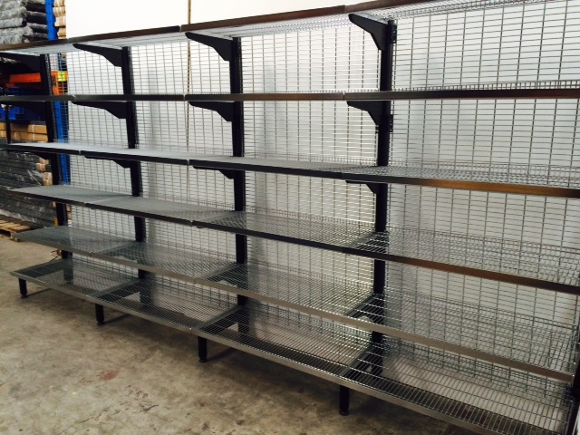 Supermarket & Retail Single Sided Shelving