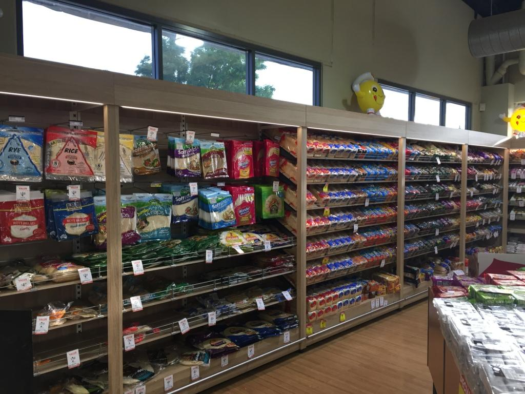 Timber Clad Bakery Shelving