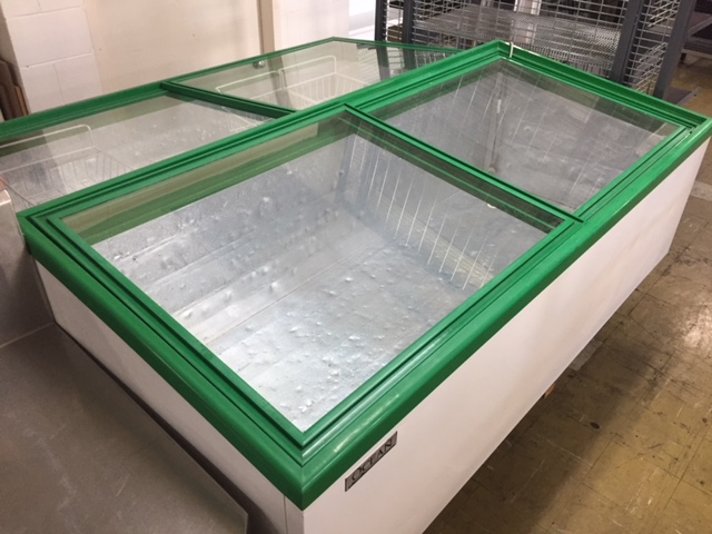 Coffin Freezers with Glass Sliding tops