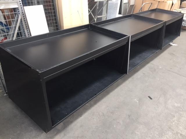Black Produce Displays on Castors
