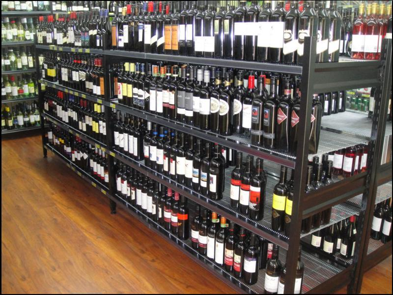 Low Profile Heavy Duty Liquor Racking Affrack