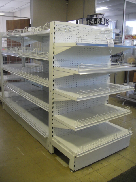 1500mm High Gondola End with Perforated Backing Panels