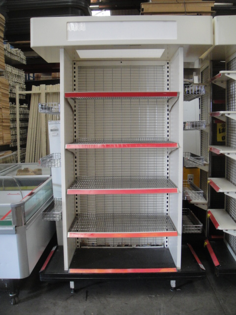 Dense Ends with Wing Baskets and Wire Shelves