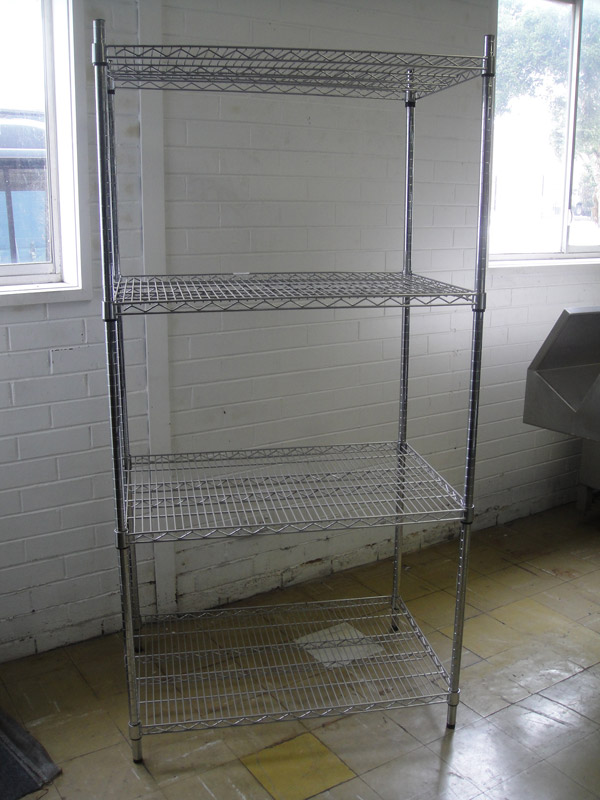 1830mm High Chrome Wire Display Rack