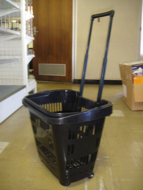 Black Basket Cart