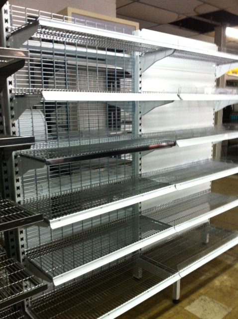 Shelving mesh backing