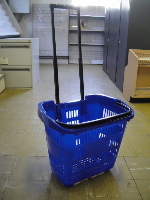 Blue Basket Cart
