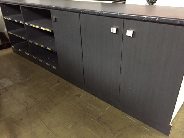 Timber Counter Top Shelving Unit