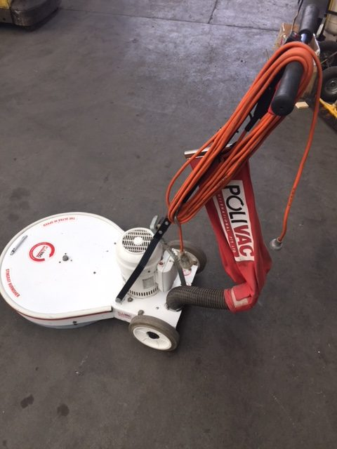 Polivac- Floor Polisher, Ultra Hi-Speed Electric Straight Line Suction Burnisher