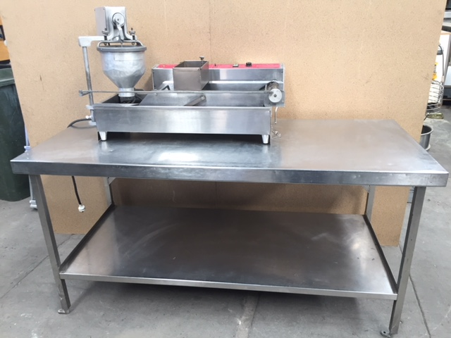 Belshaw Mark II Donut Robot on Stainless Steel Bench
