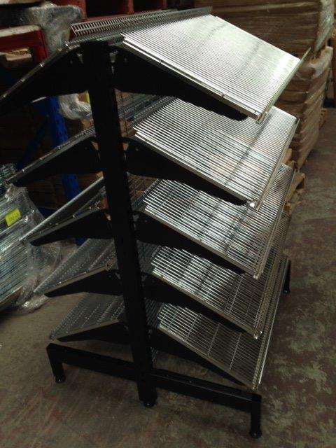 Bakery Display – Black Affshelf 1400mm High