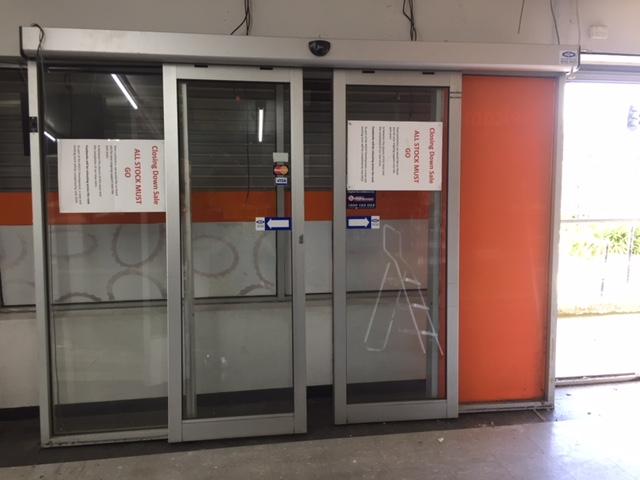 Bi-Parting Electric Entry Doors with Door Frame